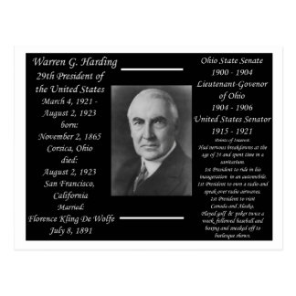President Warren G Harding Postcard