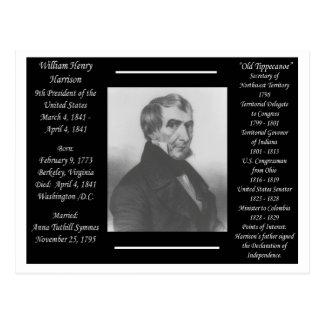 President Willam Henry Harrison Postcard