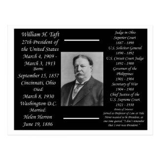 President William H Taft Postcard
