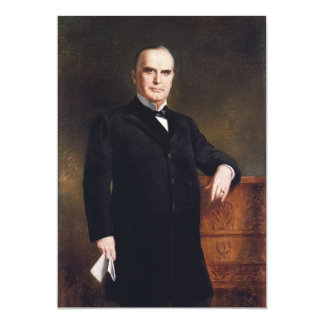 President William McKinley by August Benziger 1897 5x7 Paper Invitation Card