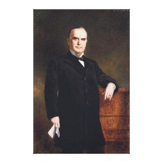 President William McKinley by August Benziger 1897 Canvas Print