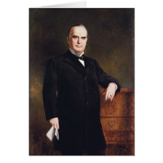 President William McKinley by August Benziger 1897 Greeting Card