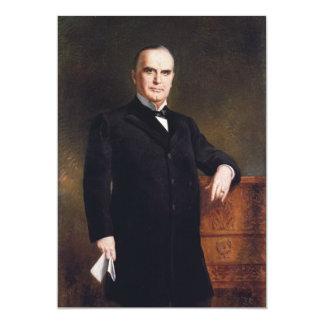 President William McKinley by August Benziger 1897 Custom Announcement