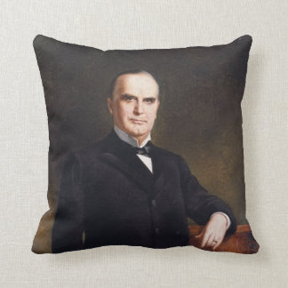 President William McKinley by August Benziger 1897 Throw Pillow