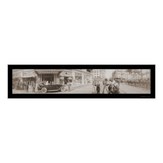 President Wilson Arrival Photo 1919 Poster