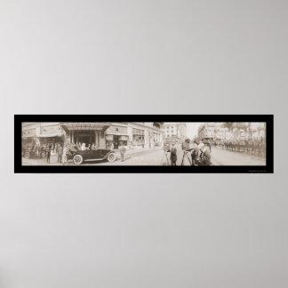 President Wilson Arrival Photo 1919 Print