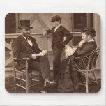 Presidente 1872 Grant con la familia en la cabaña Alfombrilla De Raton