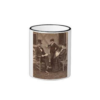 Presidente 1872 Grant con la familia en la cabaña Taza