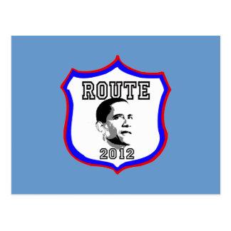 Presidente 2012 de Barack Obama de la ruta de Obam Postales