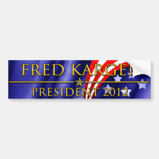 Presidente 2012 de Fred Karger Pegatina Para Auto