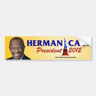 Presidente 2012 de Herman Caín Pegatina Para Auto
