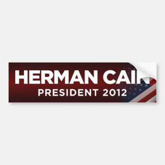 Presidente 2012 de Herman Caín - rojo Pegatina Para Auto