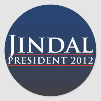 Presidente 2012 de Jindal Pegatina Redonda