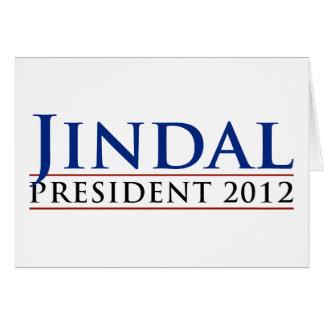 Presidente 2012 de Jindal Tarjeta De Felicitación