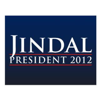 Presidente 2012 de Jindal Tarjetas Postales