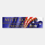 Presidente 2012 de Mitt Romney Pegatina De Parachoque