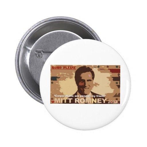 Presidente 2012 de Mitt Romney Pins