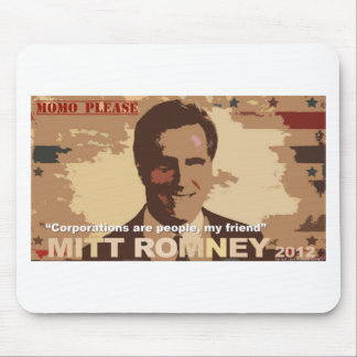 Presidente 2012 de Mitt Romney Tapete De Raton