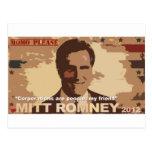 Presidente 2012 de Mitt Romney Tarjeta Postal