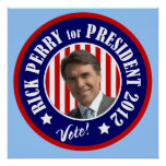 Presidente 2012 de Perry Poster