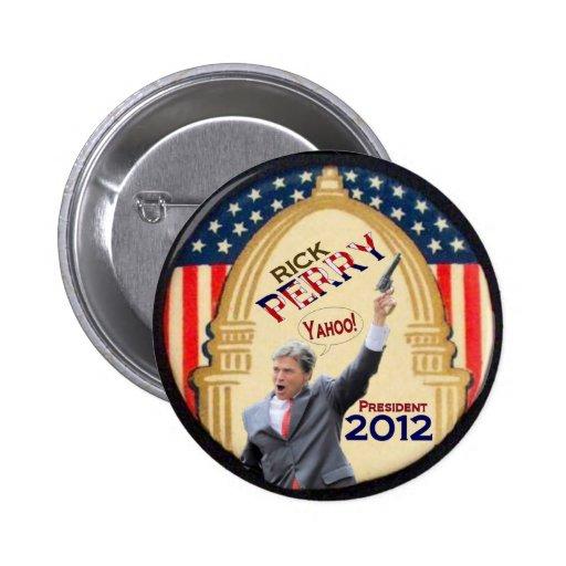 Presidente 2012 de Rick Perry Pin Redondo 5 Cm