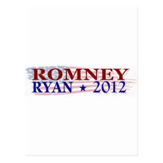 Presidente 2012 de ROMNEY RYAN Tarjetas Postales