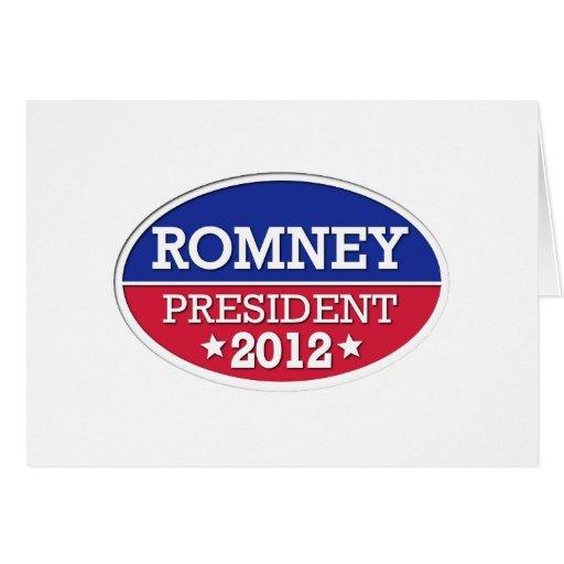 Presidente 2012 de Romney Tarjeta De Felicitación