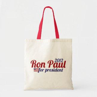 Presidente 2012 de Ron Paul Bolsa De Mano