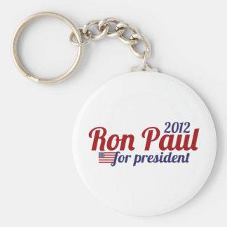 Presidente 2012 de Ron Paul Llavero Redondo Tipo Pin