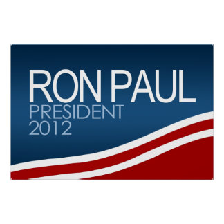 Presidente 2012 de Ron Paul Poster