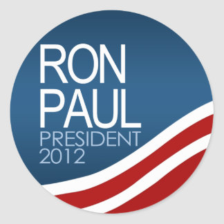 Presidente 2012 de Ron Paul Etiqueta Redonda