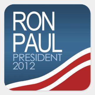 Presidente 2012 de Ron Paul Calcomania Cuadrada Personalizada