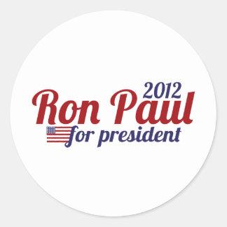 Presidente 2012 de Ron Paul Pegatina Redonda