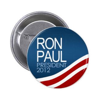 Presidente 2012 de Ron Paul Pin Redondo De 2 Pulgadas