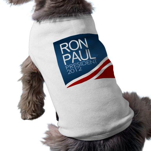 Presidente 2012 de Ron Paul Playera Sin Mangas Para Perro