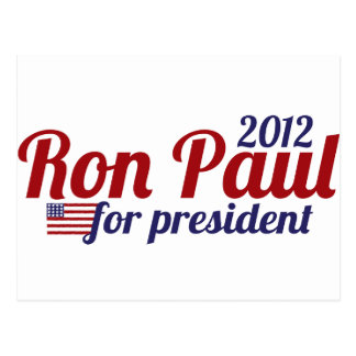 Presidente 2012 de Ron Paul Postal