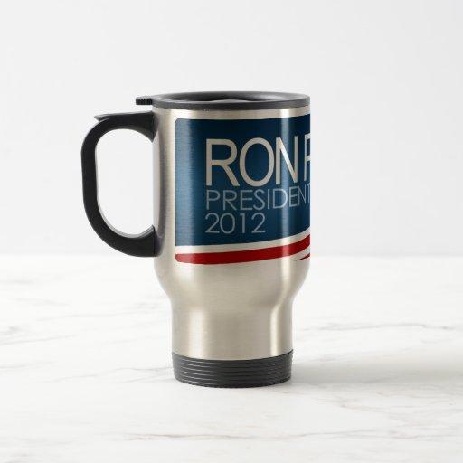 Presidente 2012 de Ron Paul Taza De Viaje De Acero Inoxidable