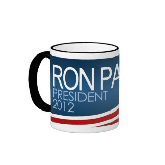 Presidente 2012 de Ron Paul Taza De Dos Colores