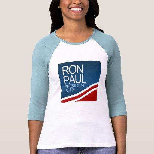 Presidente 2012 de Ron Paul Tshirts