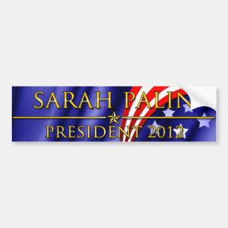 Presidente 2012 de Sarah Palin Pegatina Para Auto
