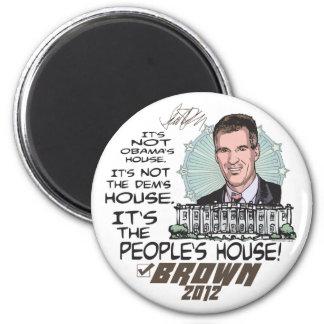 Presidente 2012 de Scott Brown 4 de la casa de la  Iman Para Frigorífico