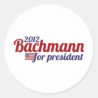 presidente 2012 del bachmann pegatinas redondas