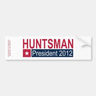 Presidente 2012 del Huntsman de Jon Pegatina Para Auto