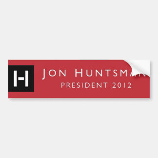 Presidente 2012 del Huntsman de Jon pegatina para  Pegatina Para Auto