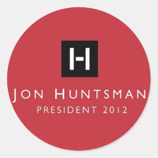 Presidente 2012 del Huntsman de Jon Pegatina Redonda
