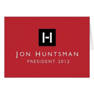 Presidente 2012 del Huntsman de Jon Tarjeta De Felicitación