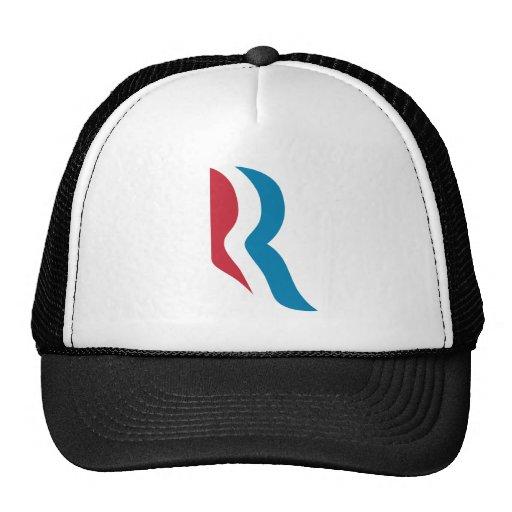 """Presidente 2012 del logotipo de Mitt Romney """"R"""" Gorros Bordados"""