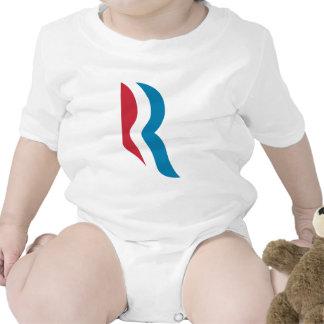 """Presidente 2012 del logotipo de Mitt Romney """"R"""" Trajes De Bebé"""