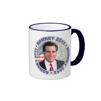 Presidente 2012 engranaje de Mitt Romney Taza De Dos Colores