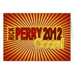 Presidente 2012 Oops diseño de Perry Tarjetas